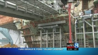 USS Gerald R Ford has Island Landing event