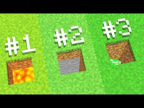BIGGEST 3 Reasons to Never Dig Straight Down in Minecraft