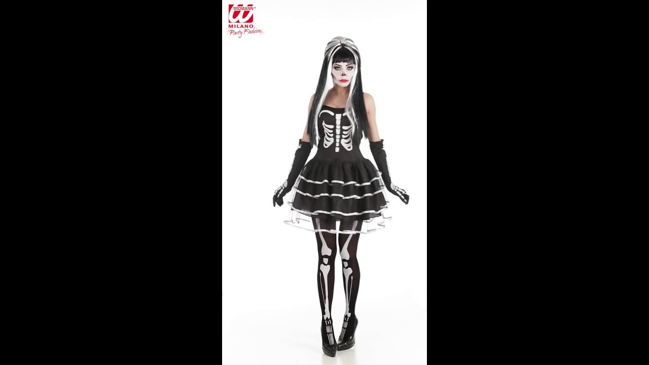 f50bf81c9c5079 Skelet vrouwen jurk - YouTube