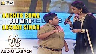 Anchor Suma Fun with Dancer Akshat Singh at A Aa Audio Launch - Filmyfocus.com