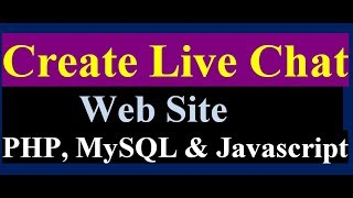 How to Create a Live Chat for Website | using php mysql ajax and jquery