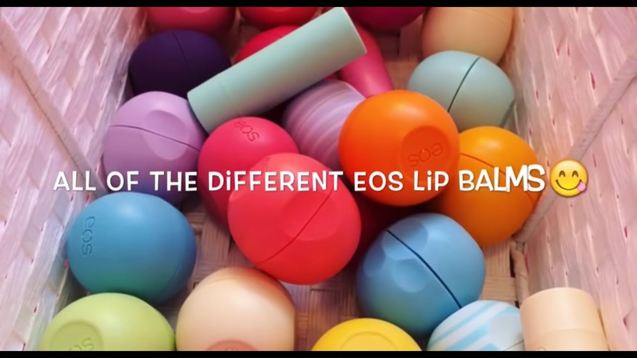 All The Different Eos Lip Balms EVER  DARK PURPLE EOS  YouTube