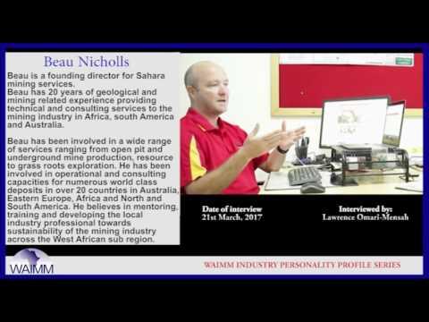 Meet CEO Beau Nicholls, Sahara Mining Services