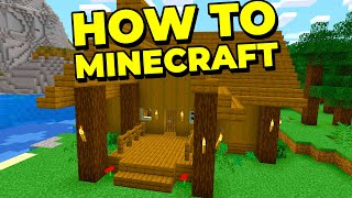 How To Minecraft: BuiĮding a Starter Home! (Survival 1.16 Let's Play) [#1]