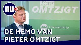 Analyse memo Omtzigt: 'Je vraag je af wat hij nog bij het CDA doet'   NU.nl