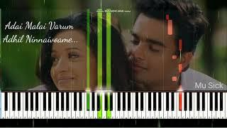 Adai Mazhai Varum Adhil Ninnaivoame - Vaseegara | Harris Jayaraj | Madhavan | Piano Cover | Lyrics..