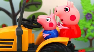 Driving a tractor, Peppa Pig Animation, 4K
