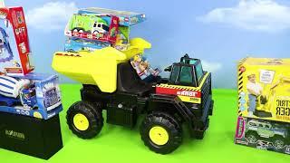 Excavadora Tractor Buldocer juguetes Cargadora Camiones coche de policía y bomberos