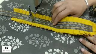 Download Beautiful and Stylish Neck Design with Frill || Printed Kurti Neck Design making Mp3