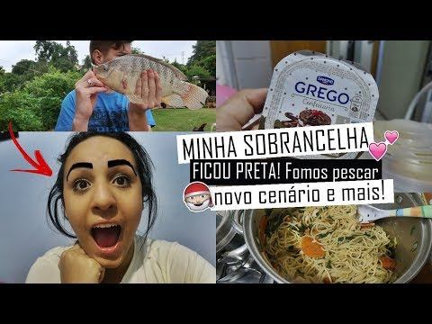 MINHA SOBRANCELHA FICOU PRETA!