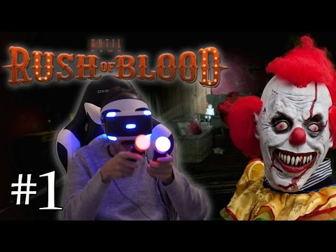 P*TAIN DE CLOWN! Until Dawn Rush of Blood FR #1 (Playstation VR)