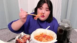 Yang soo bin) 엽떡에 땅땅불갈비 치킨 조합 …