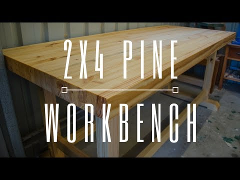Laminated Pine Workbench From 2×4's – Woodworking