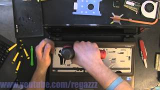 ASUS K52F  take apart, disassembly, how-to video (nothing left) HD