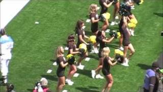 "2011 Oregon Ducks Football ""Spring Game"" and the Oregon Cheerleaders"