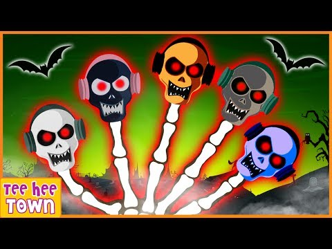 Skeleton Finger Family Songs | Funny and Spooky Rhymes | Scary Nursery Rhymes by Teehee Town