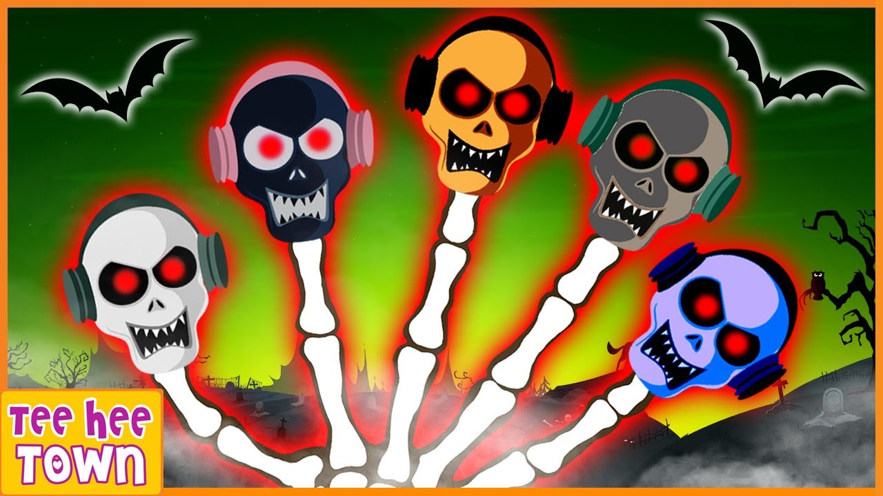 Download Midnight Magic | Skeleton Finger Family Songs | Funny and Scary Nursery Rhymes by Teehee Town