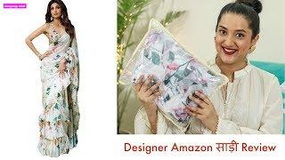 Designer Amazon साड़ी Review | Shilpa shetty साड़ी Copy | Festive Unboxing Day 5