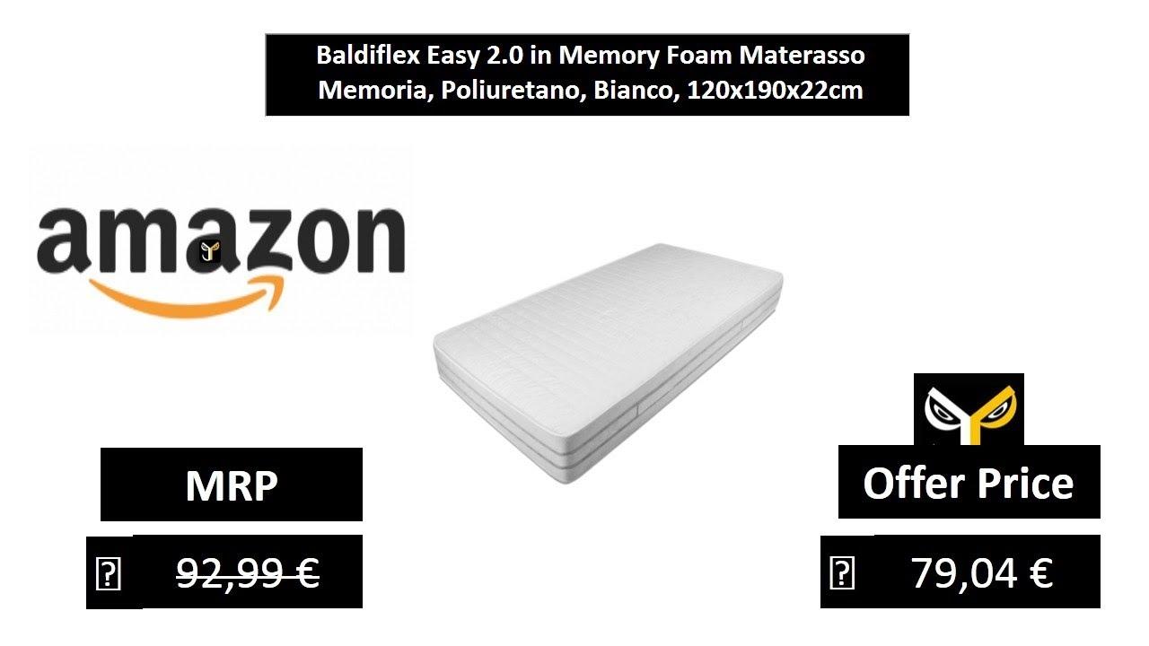 Materasso Memory Foam Baldiflex.Baldiflex Easy 2 0 In Memory Foam Materasso Memoria Poliuretano