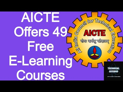aicte-offers-49-free-e-learning-courses-for-students- -free-online-certificate-by-aicte-india