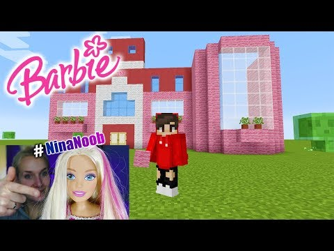 MINECRAFT BARBIE TRAUMHAUS | Nina baut pinkes BARBIE DREAM HOUSE Puppenhaus #NinaNoob kreativ Modus