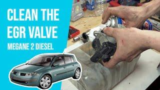 [ TUTORIAL DIESEL RENAULT MEGANE 2 ] How to clean the EGR valve