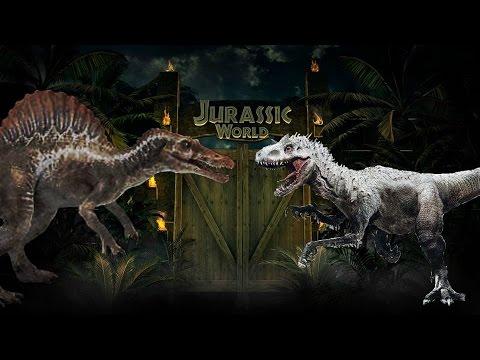 Jurassic World Indominus Rex Vs Spinosaurus Youtube