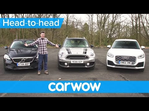 Audi Q2 vs MINI Countryman vs Volvo V40 XC review | Head2Head