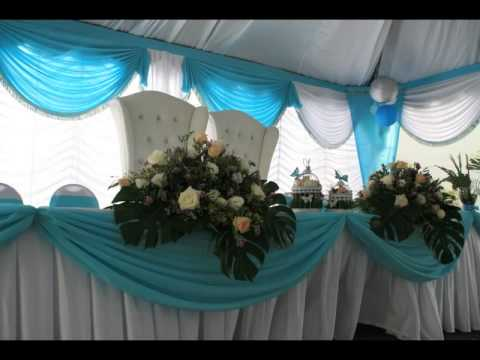 Stanjak Canopy Tiffany Blue Themed Wedding Youtube