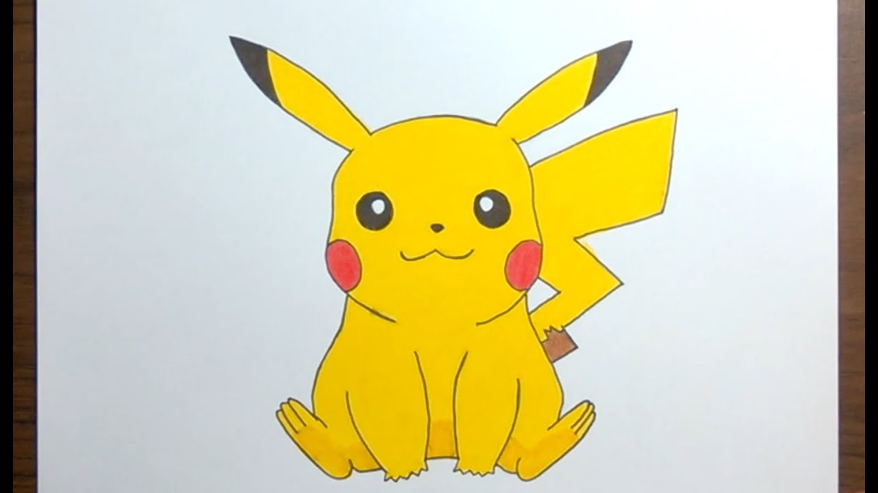 Drawing Pikachu Easy Pokemon Drawing Youtube
