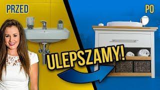 SZAFKA POD UMYWALKĘ Z KOMODY *metamorfoza łazienki