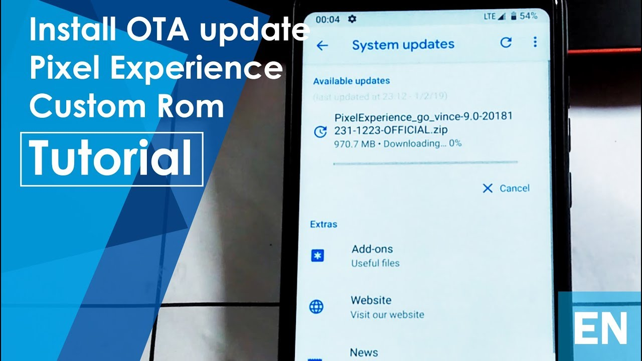 How To Update Pixel Experience Custom Rom via OTA - Eng
