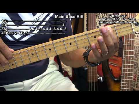 TIGHTEN UP 1968 Archie Bell And The Drells Bass Guitar Lesson FunkGuitarGuru R&B