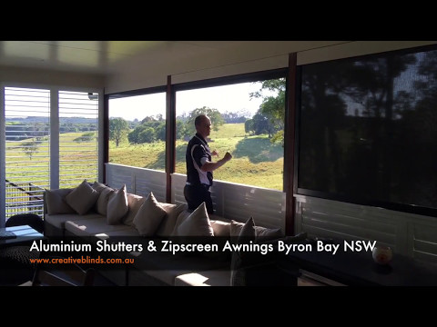 Aluminium Shutters & Zipscreen Awnings Byron Bay NSW Creative Blinds and Awnings