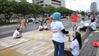 Freeze mob Community Hour Indonesia #mingguberbagi