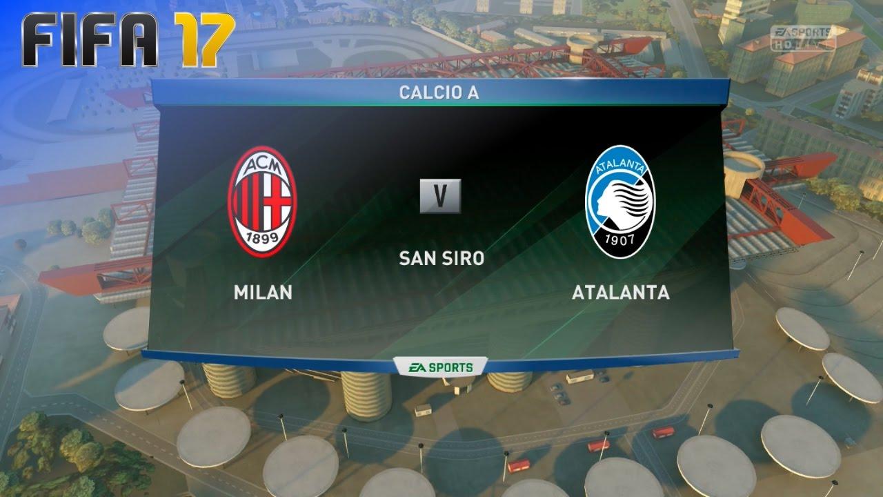 Fifa 17 ac milan vs atalanta bergamo san siro youtube for Fifa 17 milan