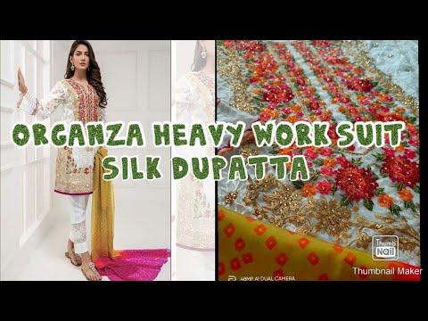 Buy Pakistani Dresses Online In India | Organza Pakistani Suits Online