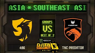 496 vs TNC Game 1 - Monster Energy Dota Summit 13 Online: Groups w/ SeekNStrike & Avo+
