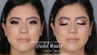 Soft Bridal Makeup On A Client | ft. Jaclyn Hill Palette & Friendcation Palette