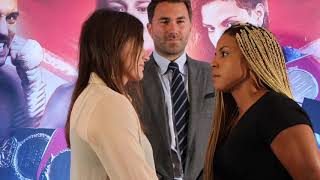 NO FEAR? - KATIE TAYLOR COLD STARES CHRISTIAN LINARDATOU - AS SHE BIDS TO BECOME 2-WEIGHT CHAMPION