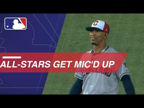 Players get mic'd up during the All-Star Game