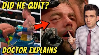FAKE or REAL Injury? Canelo Alvarez vs Billy Joe Saunders - Doctor Explains What REALLY Happened