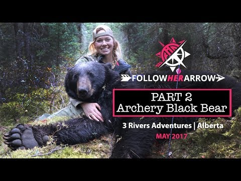jessica taylor byers archery black bear 3 rivers adventures alberta canada youtube