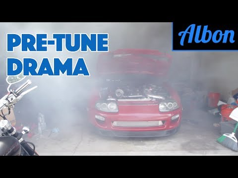 Pre-Tune Drama! - Building a Monster Toyota Supra - Part 9 [ALBON Garage]