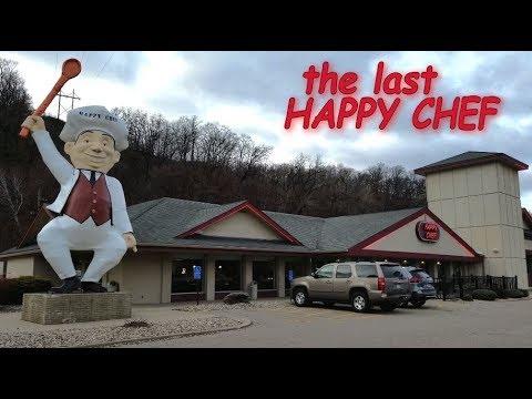 THE LAST ONE!!! - TALKING Restaurant Mascot! - THE HAPPY CHEF - Mankato Minnesota.