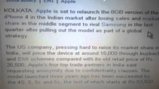 Apple to relaunch 8 gb version iphone 4 in just Rs 15k(According to economic times apple is going to relaunch iphone 4 in india this month in just Rs 15000. Expected date after 26 Jan 2014., 2014-01-15T13:15:02.000Z)
