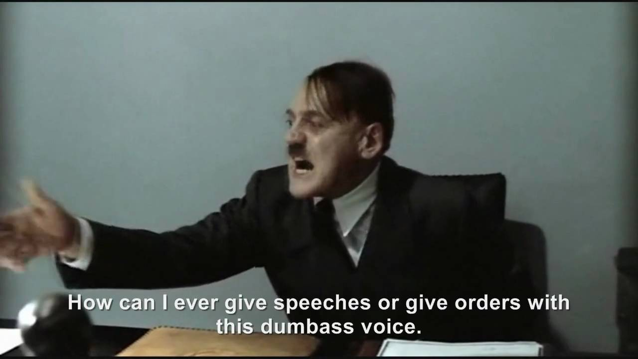 Hitler sounds like a mouse