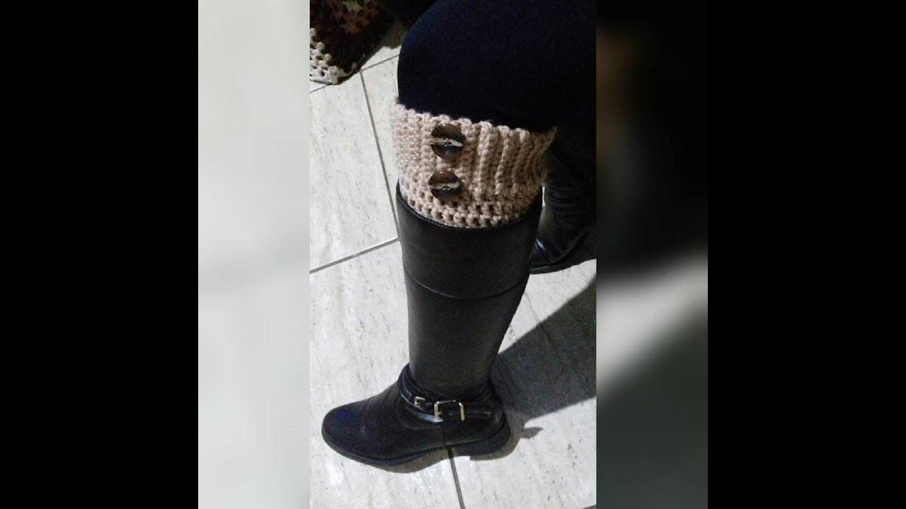 Boot Cuff - Polaina para Botas   Glaucia Tamiossi - YouTube 7c1e7c7e21bf4