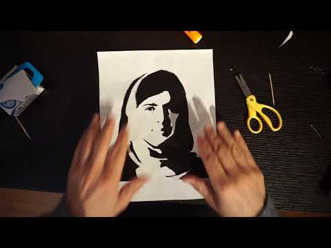 School Art Project - Making A Banksy Style Stencil