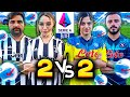 ⚽👫 2 vs 2 FOOTBALL CHALLENGE con LE RAGAZZE!!!